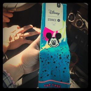 Girls blue stance Mickey Mouse socks